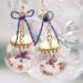 折り鶴のガラスドームピアス