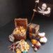 「宝箱と宝の山」