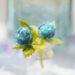 和紙と粘土で作った紫陽花